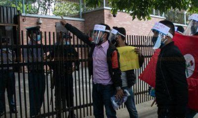 चिनियाँ दूतावास अगाडि प्रदर्शन गर्ने छ जना नेविसंघका कार्यकर्ता पक्राउ